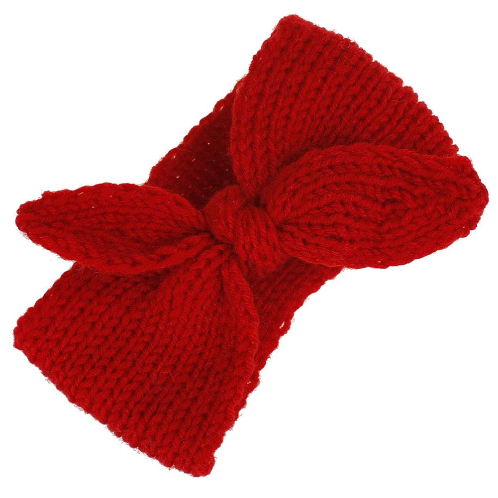SOOKOO Baby Headband Infant Hairband Winter Wool Knitted Bow Headband for Baby Boy and Girl