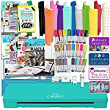 Silhouette Cameo 3 Teal Edition Bluetooth Bundle with 12x12 Sheets of Oracal 651 Vinyl, 24 Sketch Pens, Pixscan Mat, Guide Books, and More