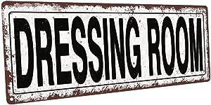 Homebody Accents TM Dressing Room Metal Street Sign, Rustic, Vintage