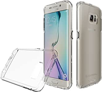 Toiko Samsung S6e case, Galaxy S6 Edge, [Invisible-Guard]. A semi-Transparent Clear Protective, Two Layers for Samsung Galaxy S6 Edge, Samsung Galaxy G9250 2015 Mobile Phone case (Clear)