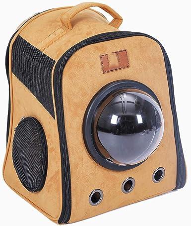 Estuche para mascotas, Mochila portátil para mascotas de viaje, cápsula, y Bolso portátil para perros, diseñado para viajes, materiales de cuero,-coffee: Amazon.es: Ropa y accesorios
