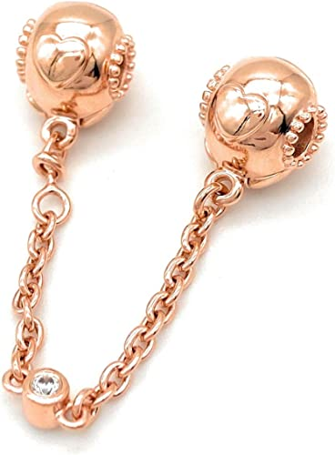 PANDORA Embossed Hearts Safety Chain