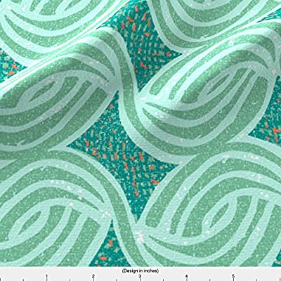 Ottomanbrim Fabric Flow-Mint by Ottomanbrim Printed on by the Yard by Spoonflower