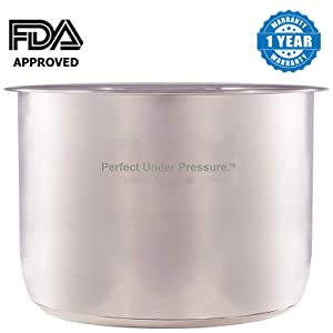 Stainless Steel Inner Cooking Pot Only for Instant Pot Branded 6-Quart Electric Pressure Cookers. Does Not Fit PPCXL or Any Other Brand of Electric Pressure Cookers
