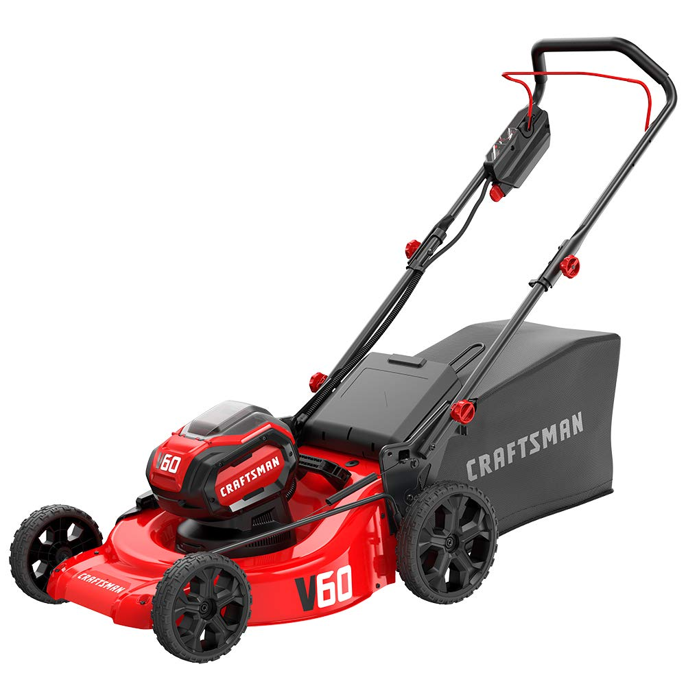 CRAFTSMAN V60 3-in-1 Cordless Lawn Mower, 21-Inch (CMCMW260P1) by Craftsman