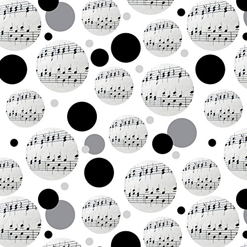 Premium Gift Wrap Wrapping Paper Roll Pattern - Music Musical Instruments - Music Musical Notes Score -