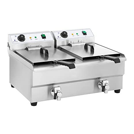 Royal Catering Freidora Electrica Profesional Doble RCEF 16DH-1 (2 x ...