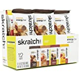 SKRATCH LABS Anytime Energy Bar, Variety Pack, (3 of each flavor) Natural, Low Sugar, Gluten Free, Vegan, Kosher, Dairy…