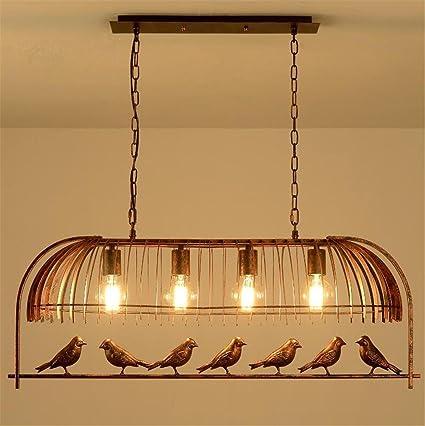 Lámparas de araña Birdcage Chandelier Colgante Retro Grandes ...