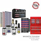 Magnetic Toolbox Labels plus Socket Labels Master Set for Metric (blue), Torx & SAE tools, fits all Craftsman, Snap On, Mac Tools and Tool Chest Steellabels.com - Combo Deal - 303 labels