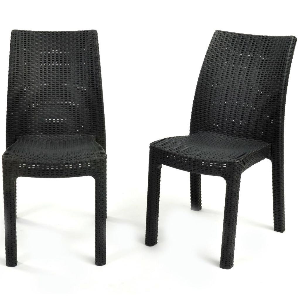 Keter 2x Gartenstühle Terrassenstuhl Outdoor Stuhl Sitzgarnitur Gartenmöbel