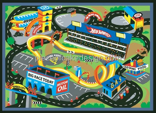 1/4 Sheet ~ Hot Wheels Map From Above