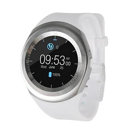 YUYOUG 2018 Smart Watch Cámara Bluetooth Smart reloj de pulsera teléfono con ranura de tarjeta SIM ...
