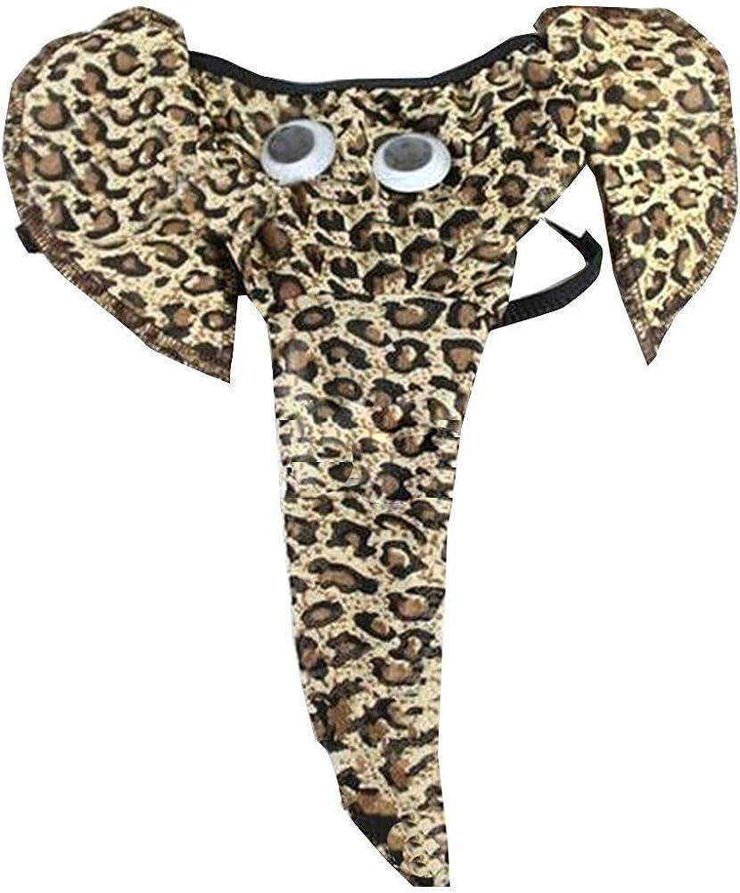 Creamlin - Ropa interior para hombre en diseño de elefante, divertida tanga sexy