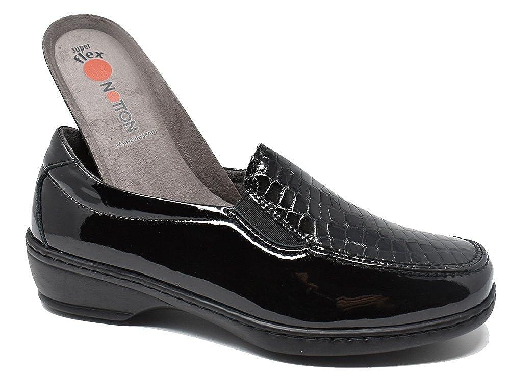NOTTON Zapato muy cómodo ANCHO ESPECIAL - 2372 - Negro 40 EU