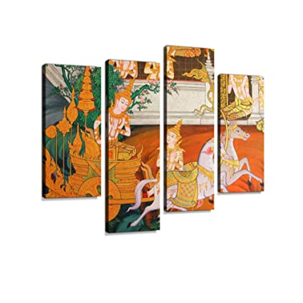 Amazon Com Masterpiece Of Traditional Thai Style Painting Canvas