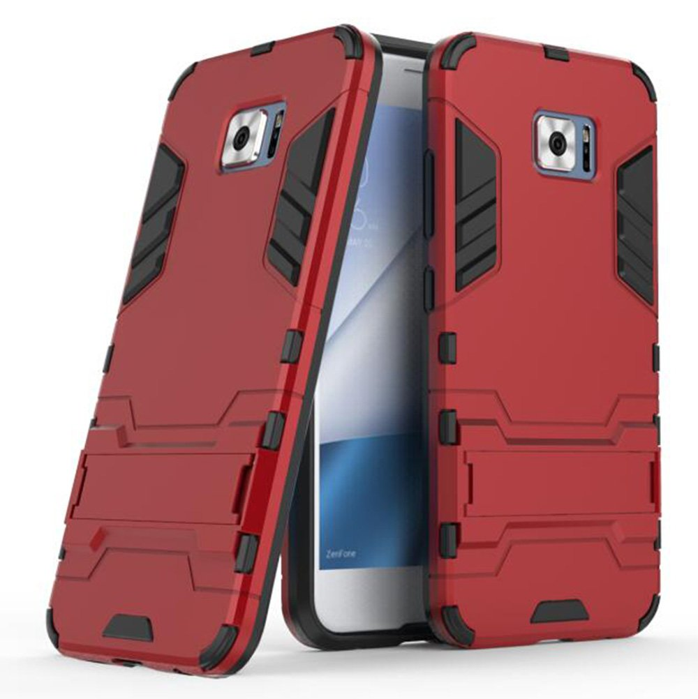 Asus ZenFone V V520KL Case, TopACE Slim Robot Armor Stand Shockproof Hybrid Rugged Rubber Hard Back Case for Asus ZenFone V V520KL (Red)
