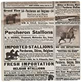 3dRose LLC 8 x 8 x 0.25 Inches 1913 Vintage Horse Ads Mouse Pad (mp_12368_1)