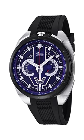 para Hombre de Loto Reloj Infantil de Cuarzo con Esfera Azul cronógrafo y Negro Correa de Goma 10128/3: Amazon.es: Relojes
