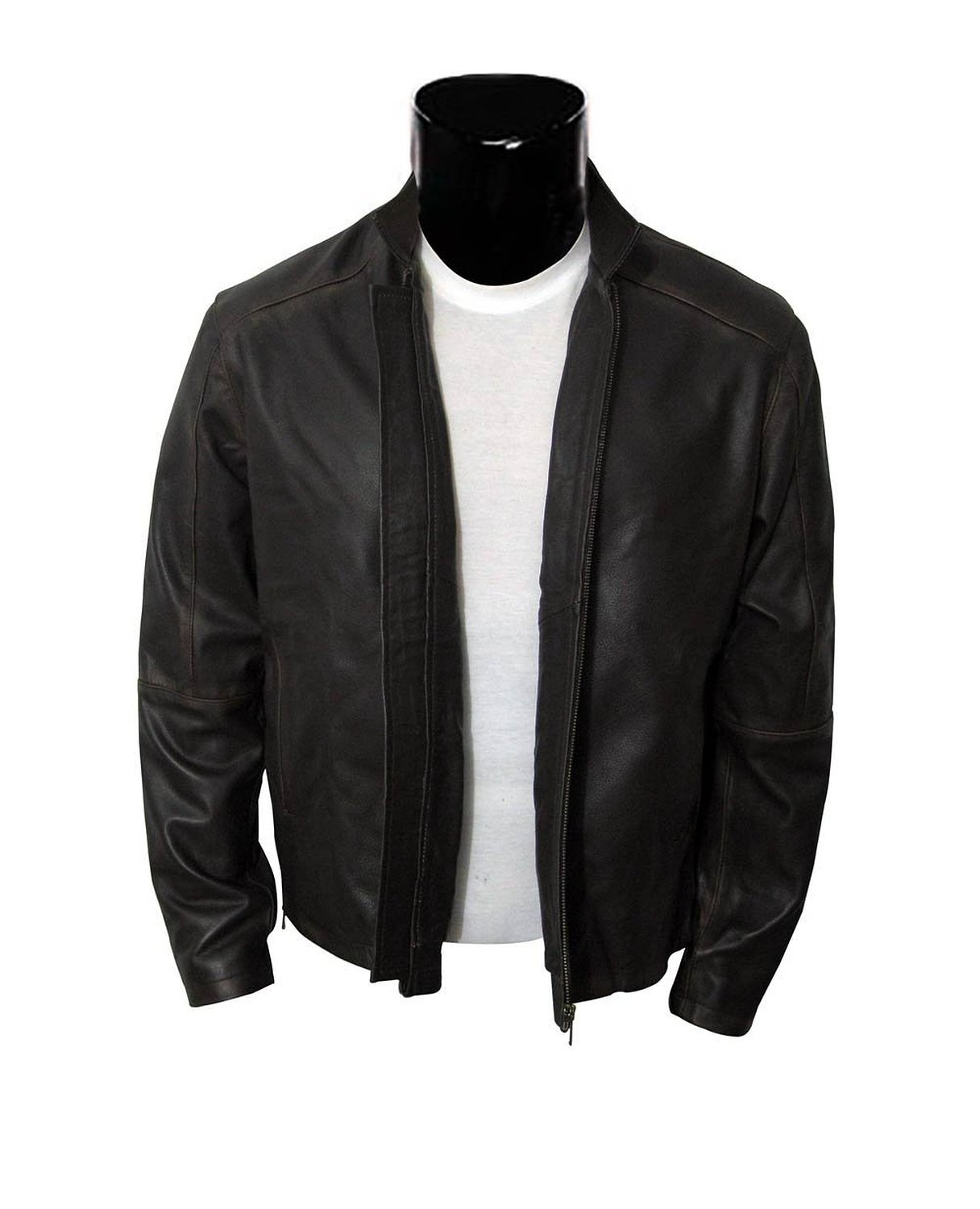 Brown Jack Reacher Movie Jacket - Real Leather (XXXL) by BlingSoul