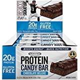 Gronk Protein Candy Bar by MuscleTech, Whey Protein Bar with Energy, 20g Protein, Gluten Free, Chocolate Deluxe, 2.12oz – 12 pack