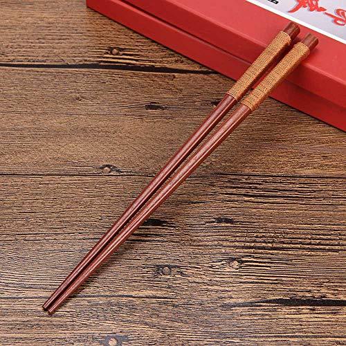 Japanese Chopsticks Wood Asia Chopsticks Natural Bamboo Handmade Length Chopsticks Reusable Chinese Kitchenware for Kitchen Cutlery 22.5CM  1 Pair