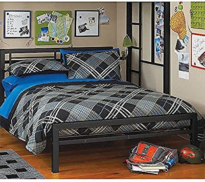 Black Full Size Metal Bed Platform Frame, Great Addition to any Kids or  Boys Bedroom Set. Nice Bedroom Furniture. ON SALE NOW!!!! This Bedroom Beds  ...
