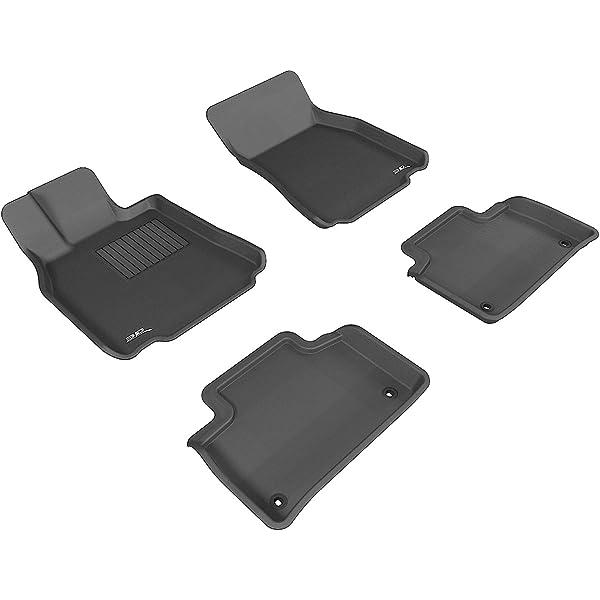 Kagu Rubber 3D MAXpider Second Row Custom Fit All-Weather Floor Mat for Select Lexus GX460 Models Black
