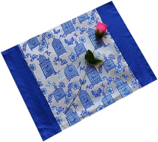 Limeinimukete Manteles Individuales de Tela 2 Piezas Colchonetas para Mesa de Comedor Esteras de Mesa Resistentes al Calor Que se Pueden Limpiar, Solo Mesa, Azul + Amarillo: Amazon.es: Hogar