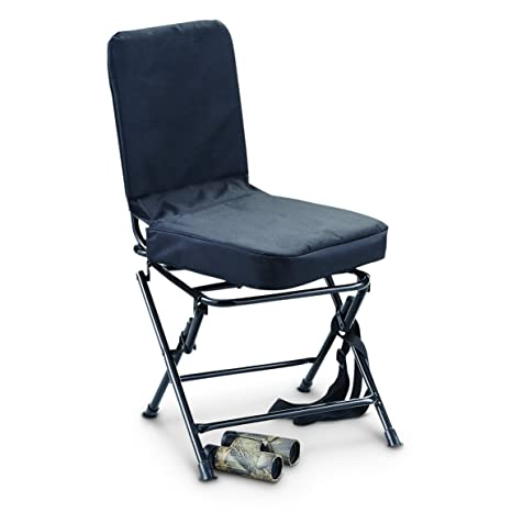 Bon Guide Gear Swivel Hunting Chair, Black