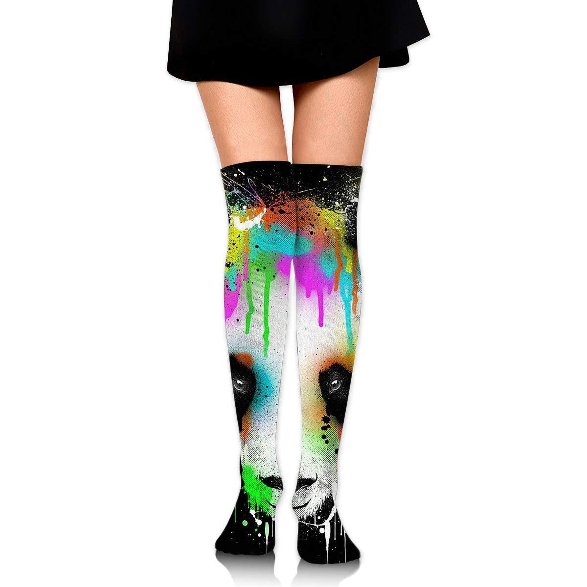High Elasticity Girl Cotton Knee High Socks Uniform Painting Panda Women Tube Socks