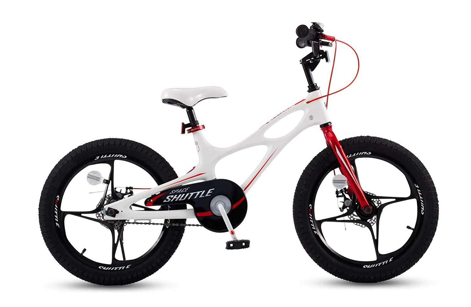 RoyalBaby Space Shuttle Lightweight Magnesium Kid s Bike with Disc Brakes for Boys and Girls, 14-16 Bike with Training Wheels, 18 inch Bike with Kickstand, 3 Colors Available