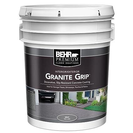 Amazon Behr 5 Gal Gray Granite Grip Interiorexterior Concrete