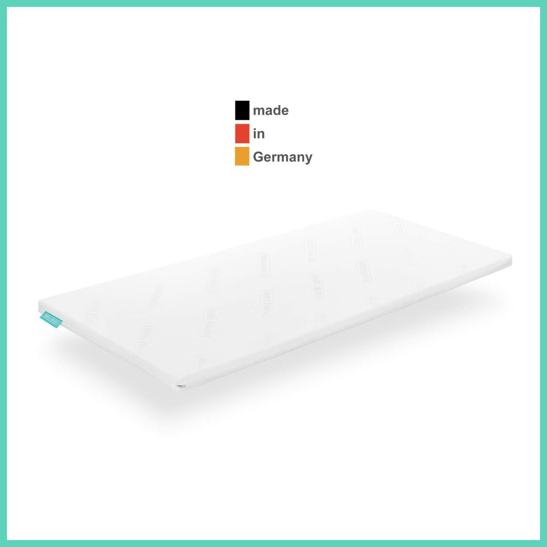 Snooze Project - Gel-Schaum Topper Matratzen-Auflage - 5cm Höhe - Extra Weich - Visco-Schaum RG 50 Schaumstoff - Allergiker-geeignet und Öko-Tex 100 zertifiziert Größe 70x200