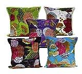 5Pcs-100Pcs Amazing India Kantha Stitch Floral Work Multi Color Handmade Home Decor Cushion Covers Wholesale Lot