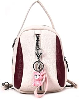 JUNMAONO Damen Bags/Rucksack/Frauen Taschen/Umhängetasche/Lässige Tasche/Schultertasche/Kosmetiktasche/Kuriertaschen Elegant Jahrgang Kette PU Segeltuch Nylon Leder Handtaschen Für Frauen