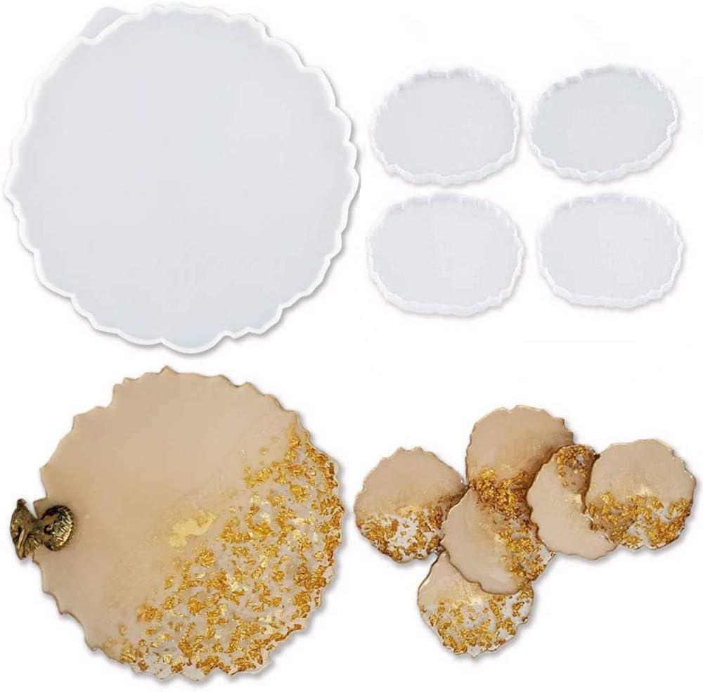 5 moldes de silicona para Epoxy Resina