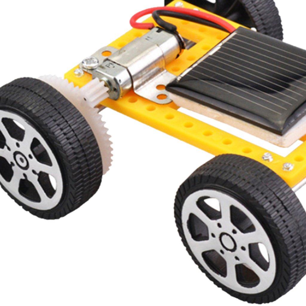 LOVIVER Kinder Erwachsene Elektronisches Spielzeug DIY Solarbetriebenes Auto Physik