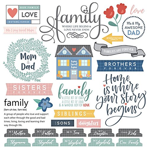 (Family Sayings Scrapbook Stickers (61141))