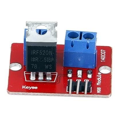 Homyl Módulo De Controlador MOSFET IRF520 Nivel Digital Para Arduino Raspberry Pi