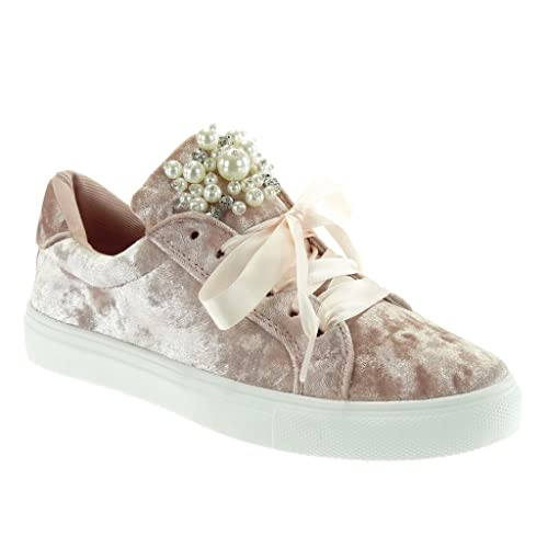 Scarpe da donna Sneaker piatto Sneakers low rosa Taglia 36 4S9m8oF