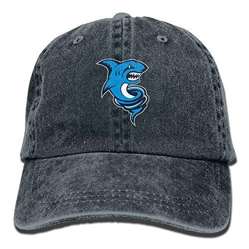 Blue Tornado Shark Denim Hat Adjustable Unisex Great Baseball (Ball Tornado Buckle)