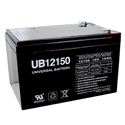 Universal Power Group 12V 15AH F2 Scooter Bike Battery Replaces Discover D12120 MK ES12-12: Automotive