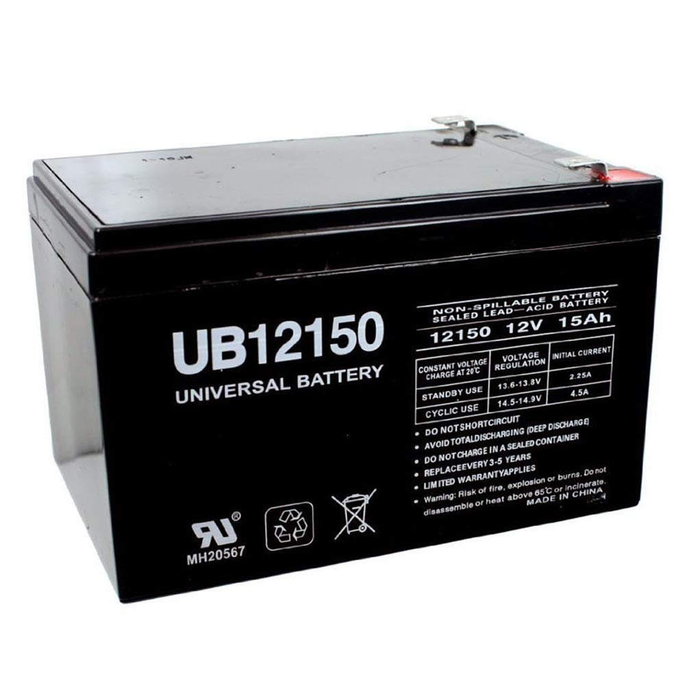 Universal Power Group 12V 15AH F2 SEALED LEAD ACID AGM DEEP-CYCLE RECHARGEABLE BATTERY UPG
