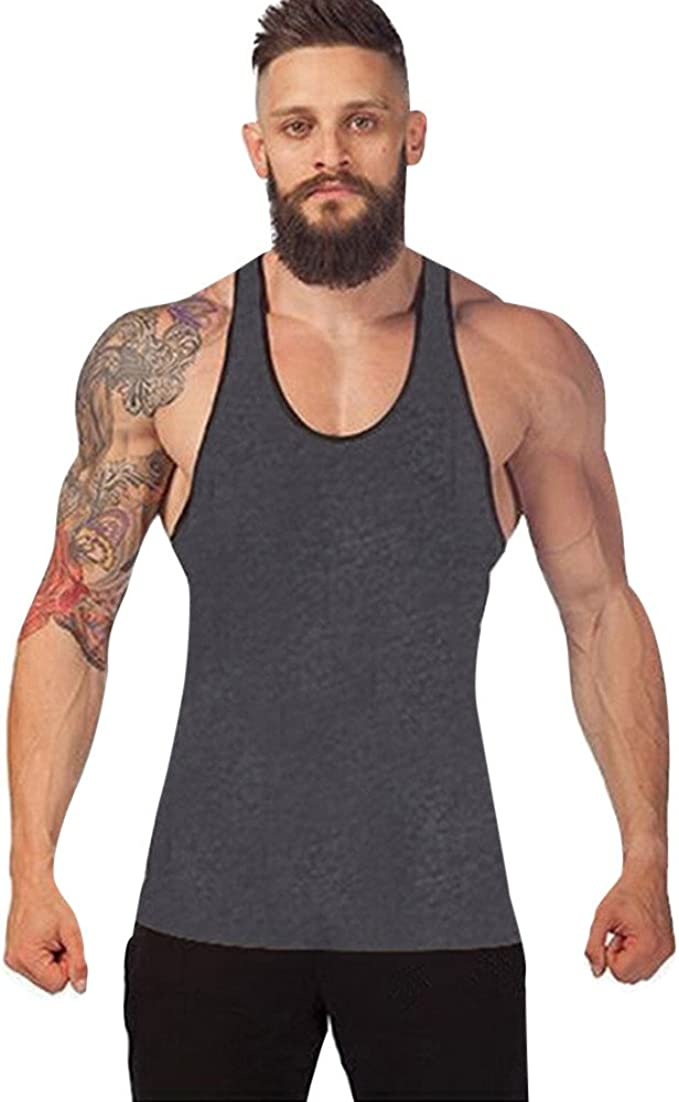 Camisetas de Tirantes Hombre, Verano Moda Hombre básica Casual Deporte Gym Camiseta sin Mangas Original Slim Fit Camisetas de Tirantes Color sólido Algodón Top Shirts Camisas Camiseta vpass: Amazon.es: Ropa y accesorios