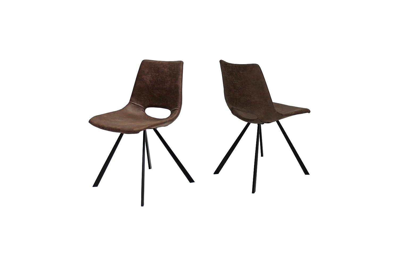 Canett Coronas 4er-Set Stuhl braun B48 x T57 x H80 cm günstig bestellen