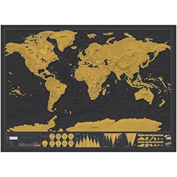 Asdomo new deluxe travel edition scratch off world map poster asdomo new deluxe travel edition scratch off world map poster personalized journal log track your adventures gumiabroncs Choice Image
