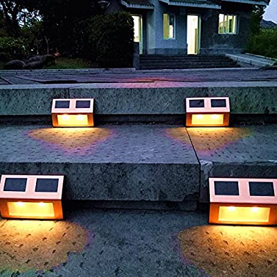 Sogrand Solar Light 4pcs-Pack,Solar Lights Outdoor,Copper Finish Warm White LED,Solar Pathway Lights