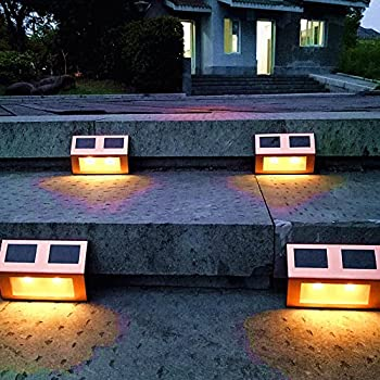 stairs light restaurant meal home lighting decoration. Solar Lights Outdoor Pathway Decorative Garden Waterproof Deck Light Upgraded Dual Warm White LED Brgiht Decorations Step Lamp Sogrand Copper Fence For Stairs Restaurant Meal Home Lighting Decoration I
