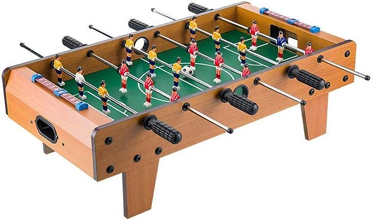 LERDBT Futbolín Adultos y niños recreativo portátil de Mano Fútbol Foosball Competencia Juegos de Mesa Compacto de Mesa Juego de fútbol de Mesa de futbolín de Mesa Uso Interior y Exterior: Amazon.es: